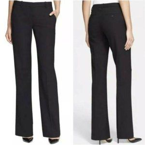 Theory Pants Trousers Mid Rise Straight Black 10